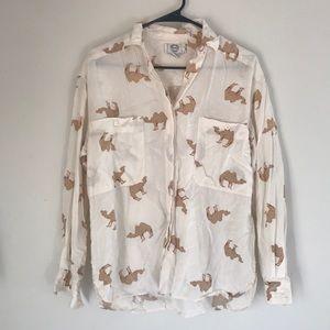 Vintage camel print shirt